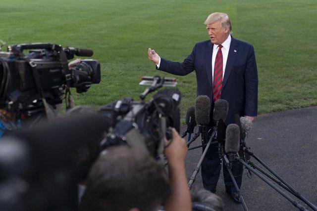 Donald Trump durant una roda de premsa