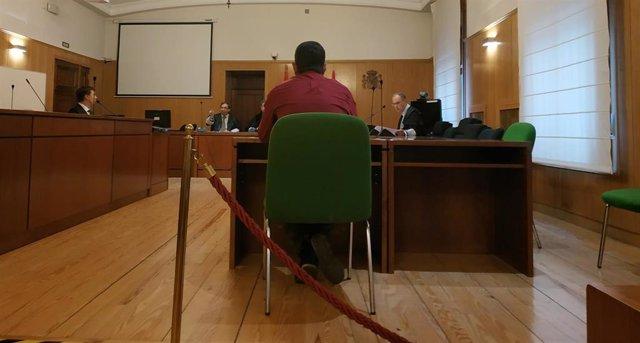 El acusado, durante el juicio celebrado este viernes en la Audiencia de Valladolid.