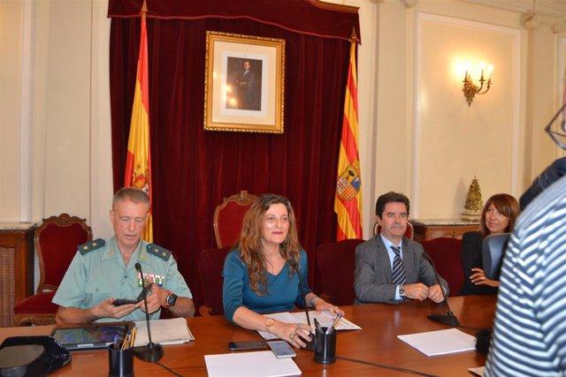 Rueda de prensa de presentación de los actos conmemorativos de la patrona de la Guardia Civil.