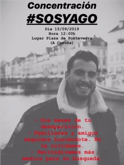 Convocan una concentración este domingo para reclamar más medios en la búsqueda del joven desaparecido en Ortigueira