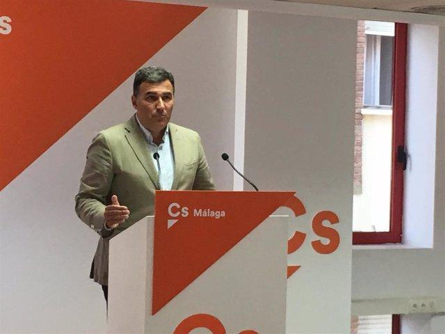 El portavoz de Ciudadanos en Málaga y parlamentario andaluz, Carlos Hernández White