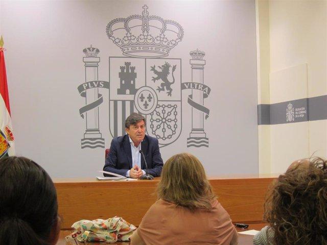 El delegado del Gobierno en La Rioja, José Ignacio Pérez Sáenz