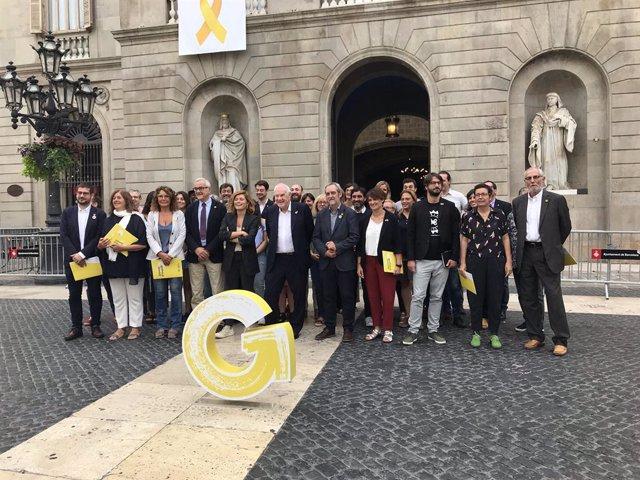 Els 10 regidors i 46 consellers de districte d'ERC amb la ?G? del govern d'impuls//Europa Press