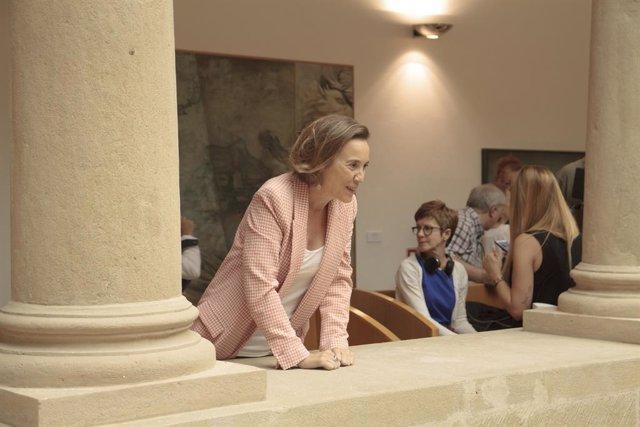 La diputada del PP-La Rioja i anterior alcaldessa de Logronyo, Cuca Gamarra, a la seva arribada a la primera sessió del debat d'investidura de la candidata socialista, Concha Andreu, com a presidenta de La Rioja.