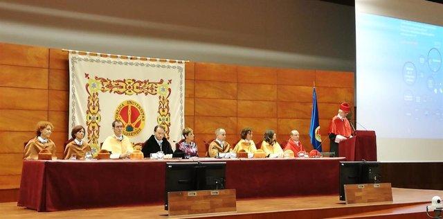 Acto de apertur del curso 2019/2020 en la Universidad Pública de Navarra.