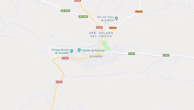 Imagen de Almadén en Google Maps