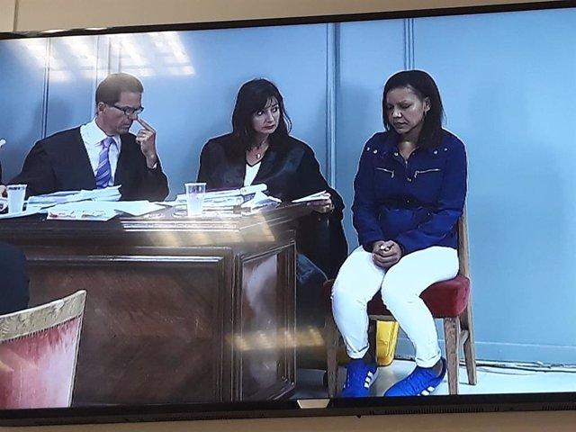 La acusada del crimen de Gabriel, Ana Julia Quezada, en el quinto día de juicio