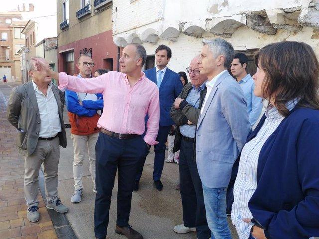 Inauguración del Barrio del Burgo tras la reurbanización integral de once calles en Alfaro