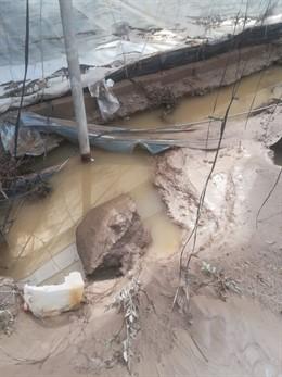 Daños por lluvías en Almería.