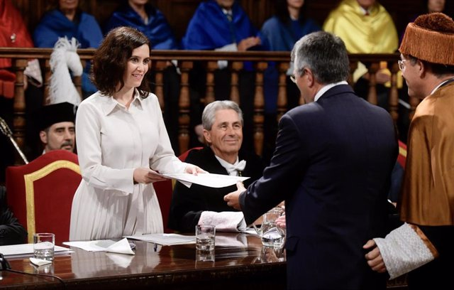 Díaz Ayuso en el inicio del curso universitario 2019/20