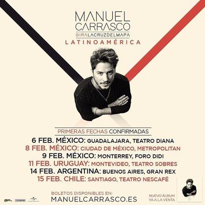 Manuel Carrasco anuncia conciertos en México, Uruguay, Argentina y Chile