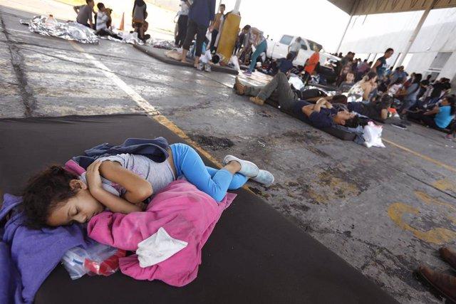 Migrantes en Nuevo Laredo (México)