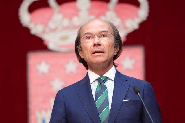 Imagen de archivo del consejero de Ciencia, Universidades e Innovación de la Comunidad de Madrid, Eduardo Sicilia.