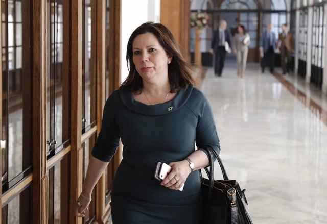 La portavoz adjunta del grupo parlamentario Vox, Ángela Mulas, en una imagen de archivo