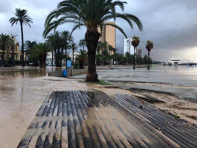 Playa de La Ribera, tormenta, DANA, lluvias, inundaciones