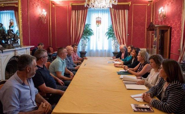 Reunión del Gobierno de La Rioja con los sindicatos agrarios