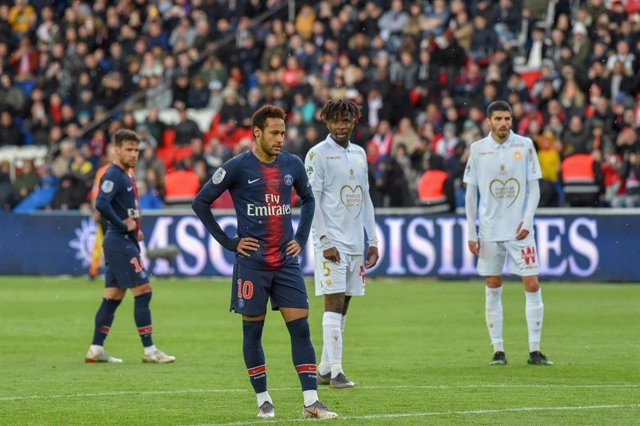 Neymar Jr., con el Paris Saint-Germain.