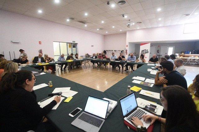 Reunió del grup de JxCat en el Parlament a Mollerussa (Lleida).