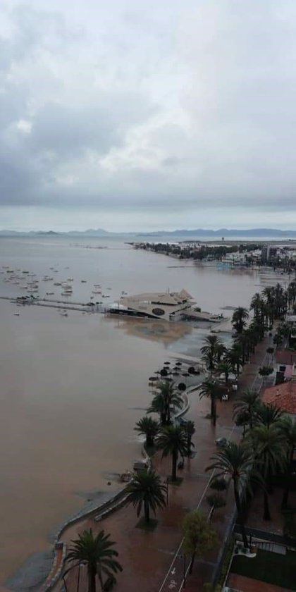 """Luengo, alcalde de San Javier: """"Será muy duro reponernos de esto, pero entre todos lo lograremos"""""""