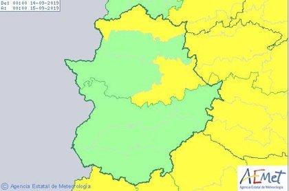 Las sierras del norte y este de Cáceres permanecerán en aviso amarillo este sábado por fuertes lluvias