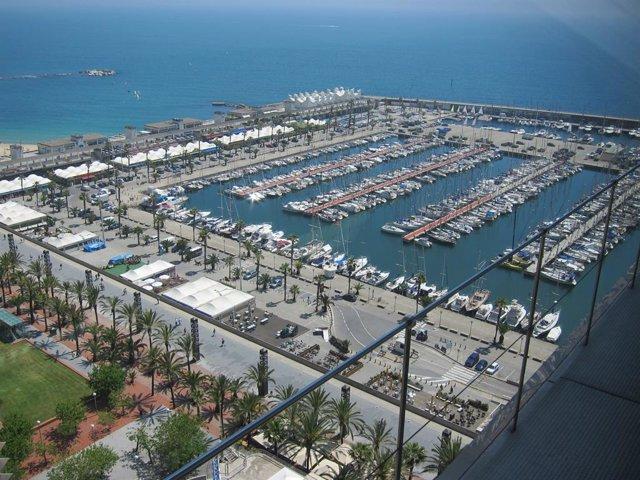 Port Olímpic de Barcelona, en una foto d'arxiu.