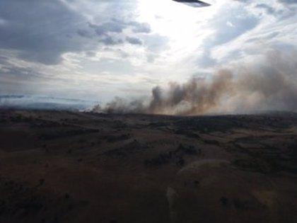 Rebajado a nivel 0 el fuego en Grisuela (Zamora) y controlado el de Santa Olaja (León)