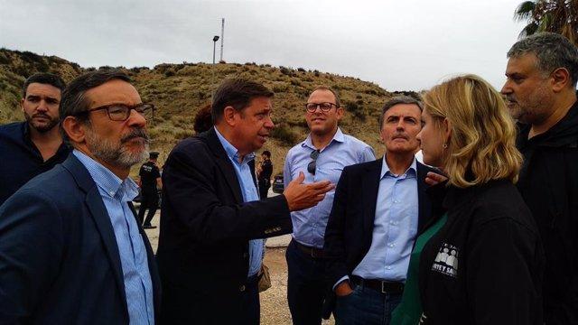 Temporal.- El ministro Planas asegura en Murcia que el Gobierno va a valorar la