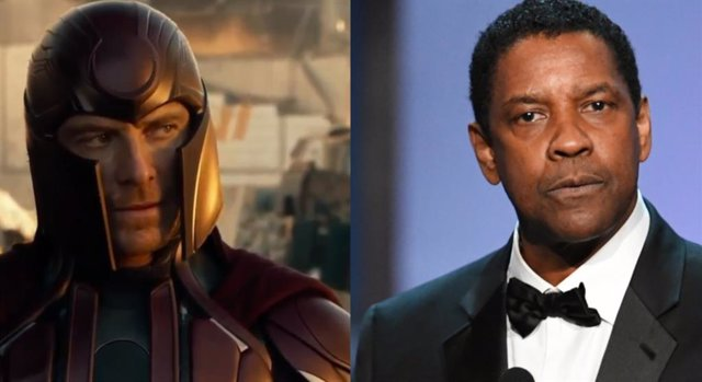 Michael Fassbender como Magneto y Denzel Washington