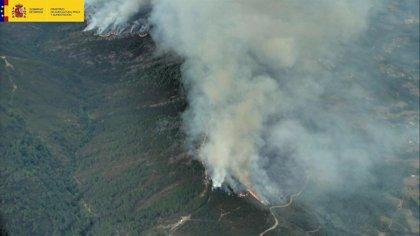 Estabilizado el incendio de A Gudiña (Ourense), el de mayores dimensiones de este sábado al quemar 440 hectáreas