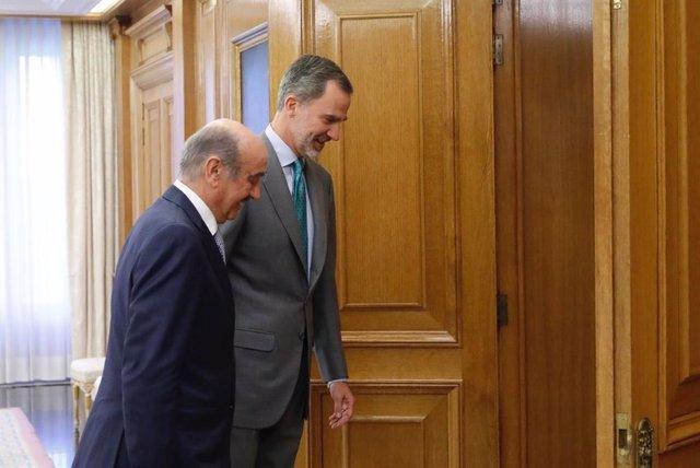 El Rey Felipe VI recibe al representante del Partido Regionalista de Cantabria, José María Ángel Mazón.