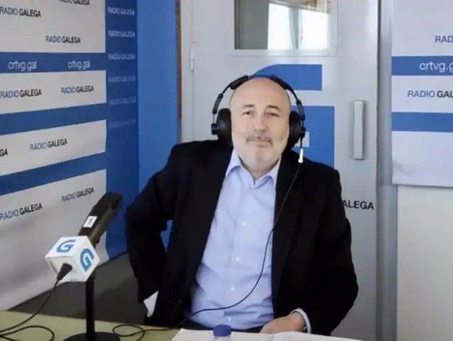 Javier Losada, delegado del Gobierno en Galicia, en entrevista en la Radio Galega