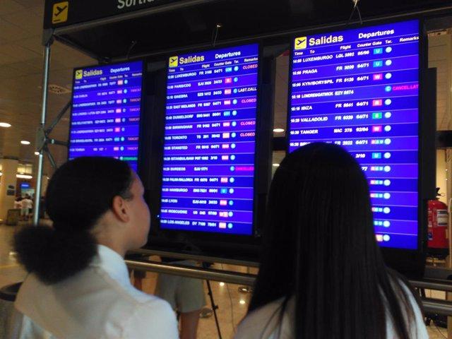 Vaga de Ryanair en l'Aeroport de Barcelona