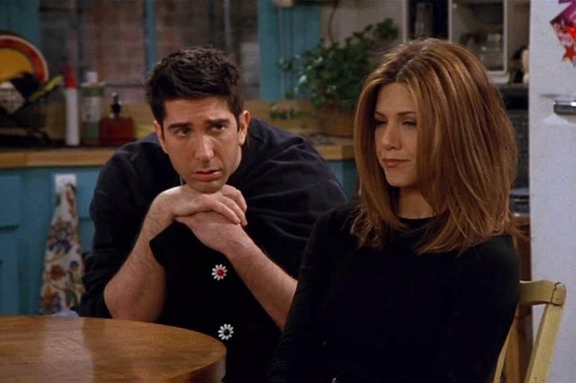 Ross y Rachel en Friends