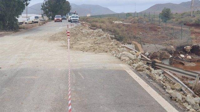 Cuatro carreteras permanecen cortadas en la provincia con motivo del temporal.