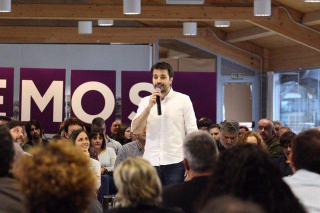 El cabeza de lista de Unidas Podemos al Congreso, Javier Sánchez Serna