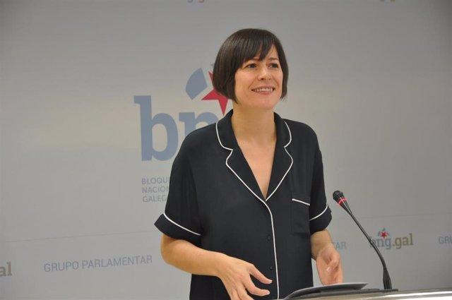 La portavoz nacional del BNG, Ana Pontón, en rueda de prensa.