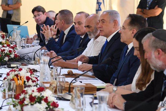 Reunión del Gobierno israelí