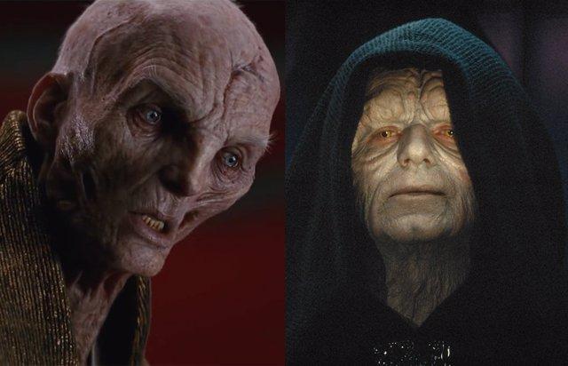 Snoke y Palpatine en Star Wars