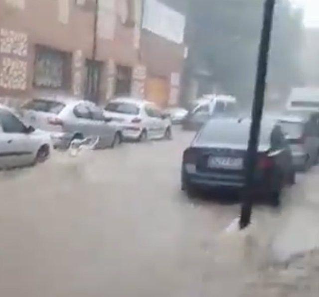 Arganda, afectada de nuevo por als fuertes lluvias