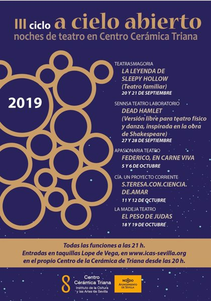 Centro Cerámica de Triana acogerá el ciclo de teatro 'A cielo abierto' en las noches de septiembre y octubre