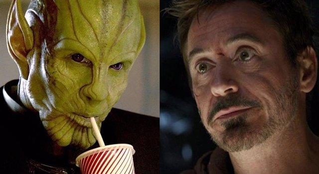 El líder de los Skrull y Tony Stark