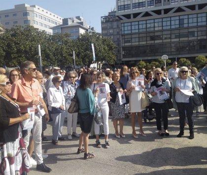 """Una concentración en A Coruña arropa a la familia del joven desaparecido en Ortigueira: """"Dinos simplemente 'estoy vivo'"""""""