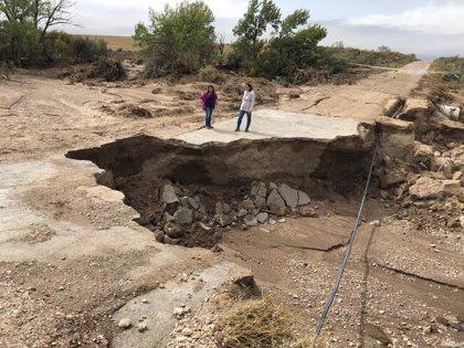 Abiertas todas las carreteras afectadas por el temporal, salvo la GR-9109 y la A-4200 en Granada