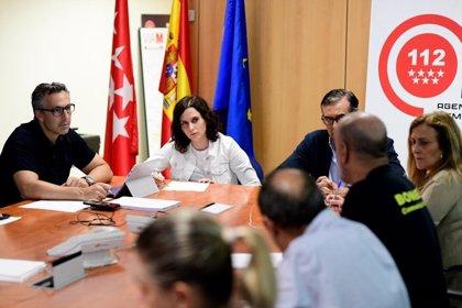 Ayuso y López supervisan los trabajos del comité de crisis por las inundaciones en el sureste de la Comunidad