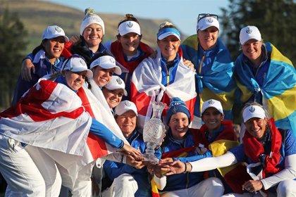 Europa vuelve a mandar en la Solheim Cup con Carlota Ciganda y Azahara Muñoz