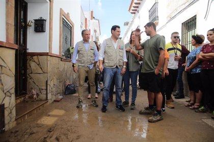 La Junta destaca el mensaje de colaboración institucional de la visita conjunta de Sánchez y Moreno a daños del temporal