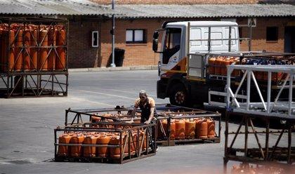 El precio medio de la bombona de butano bajará un 4,86% desde mañana, hasta 12,15 euros