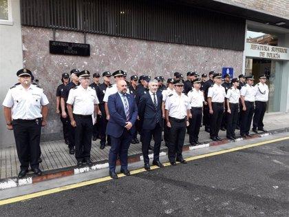 Grande Marlaska visita la Comandancia de la Guardia Civil y la Jefatura de la Policía Nacional en Navarra