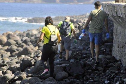 Recogen más de 500 kilogramos de plástico a lo largo de la costa de Agaete (Gran Canaria)