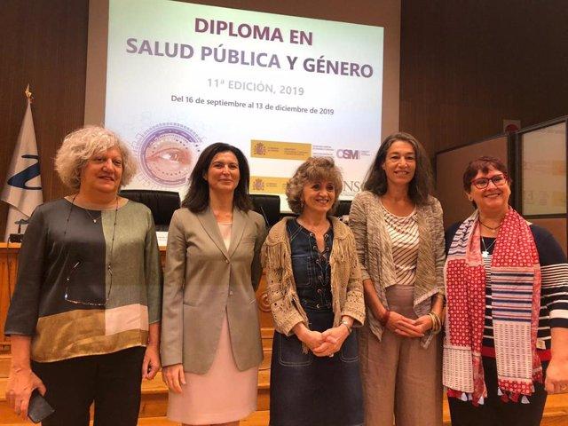 Foto de la inauguración de la 11ª edición del Diploma de Salud Pública y Género